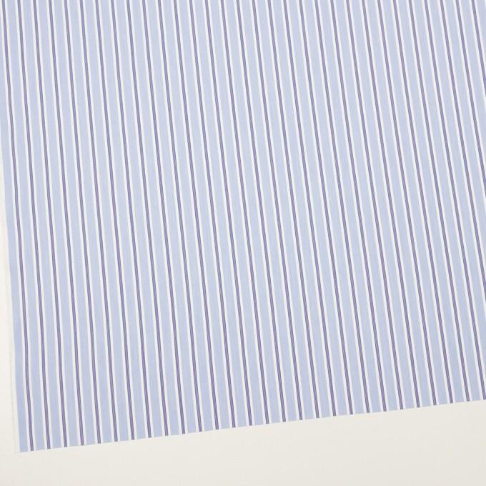 コットン&ポリエステル×ストライプ(ライトブルー&ネイビー)×ローン イメージ2