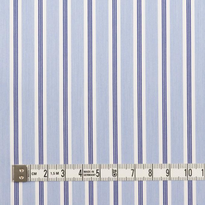 コットン&ポリエステル×ストライプ(ライトブルー&ネイビー)×ローン イメージ4