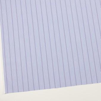 コットン&ポリエステル混×ストライプ(ブルー&ネイビー)×ローンストレッチ サムネイル2