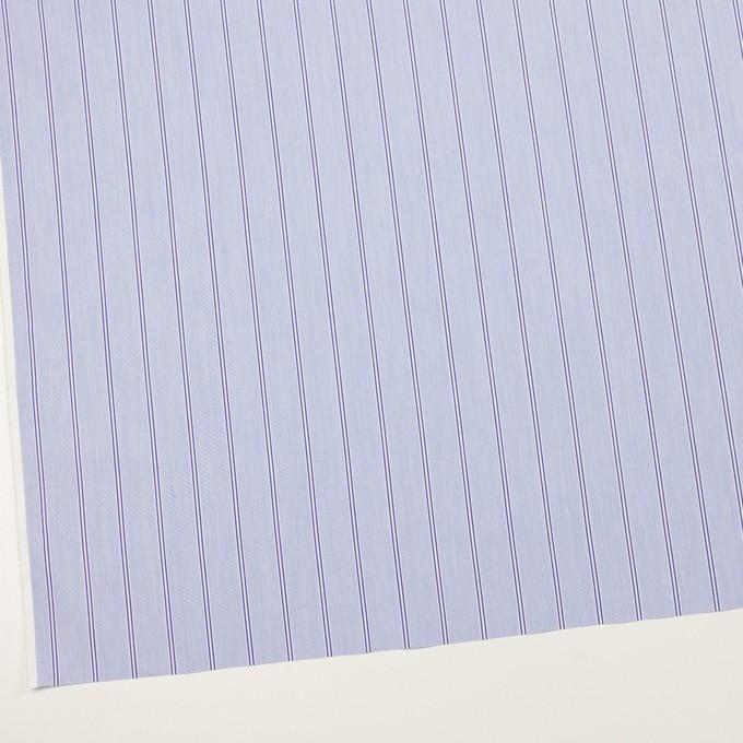 コットン&ポリエステル混×ストライプ(ブルー&ネイビー)×ローンストレッチ イメージ2