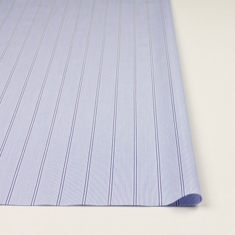 コットン&ポリエステル混×ストライプ(ブルー&ネイビー)×ローンストレッチ サムネイル3