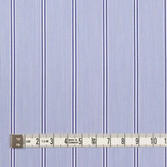 コットン&ポリエステル混×ストライプ(ブルー&ネイビー)×ローンストレッチ サムネイル4