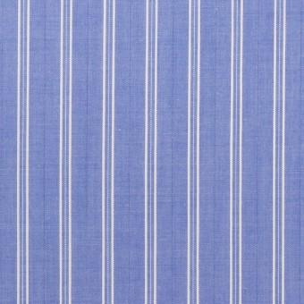 コットン×ストライプ(ヒヤシンスブルー)×ローン サムネイル1