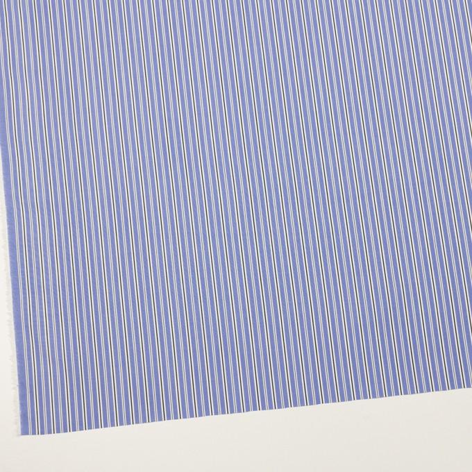 コットン×ストライプ(ヒヤシンスブルー&チャコール)×ローン イメージ2