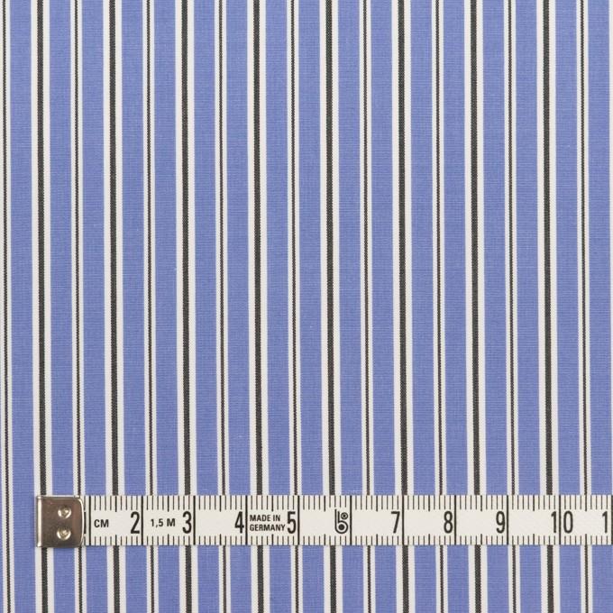 コットン×ストライプ(ヒヤシンスブルー&チャコール)×ローン イメージ4