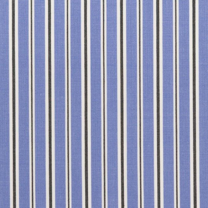 コットン×ストライプ(ヒヤシンスブルー&チャコール)×ローン イメージ1