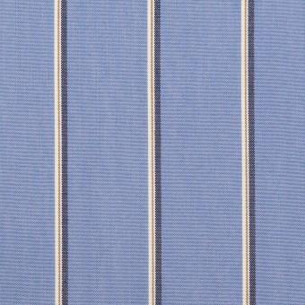 コットン&ポリエステル×ストライプ(ヒヤシンスブルー、モカ&チャコール)×ブロード サムネイル1