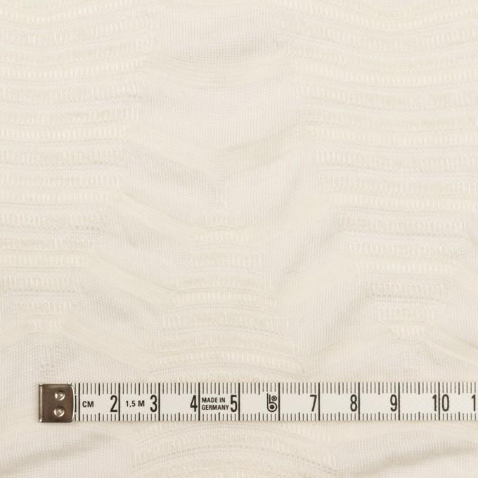 コットン&レーヨン×幾何学模様(バニラ)×ジャガードニット_全2色 イメージ4