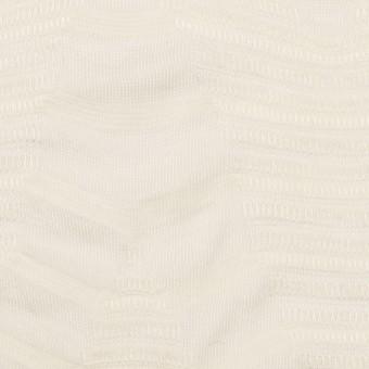 【80cmカット】コットン&レーヨン×幾何学模様(バニラ)×ジャガードニット_全2色