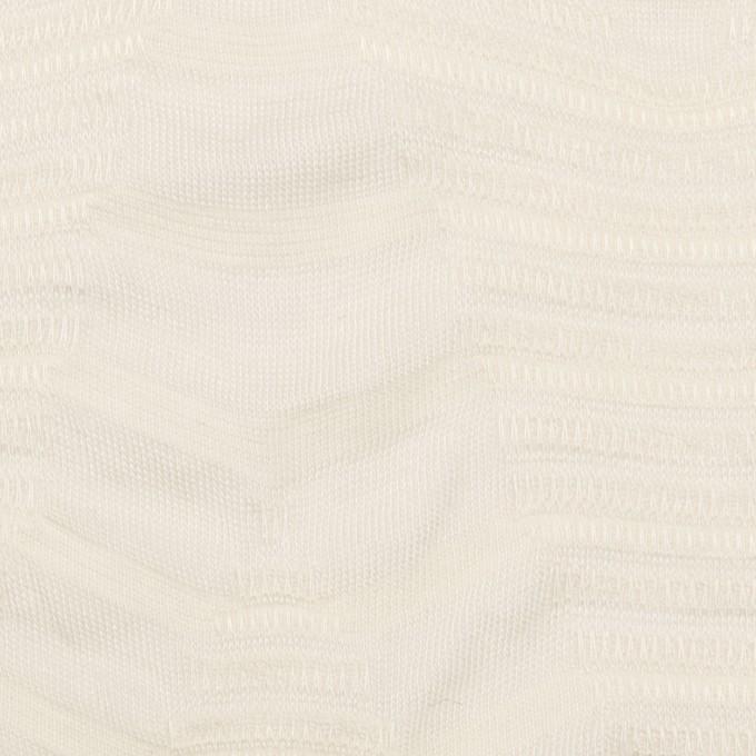 コットン&レーヨン×幾何学模様(バニラ)×ジャガードニット_全2色 イメージ1