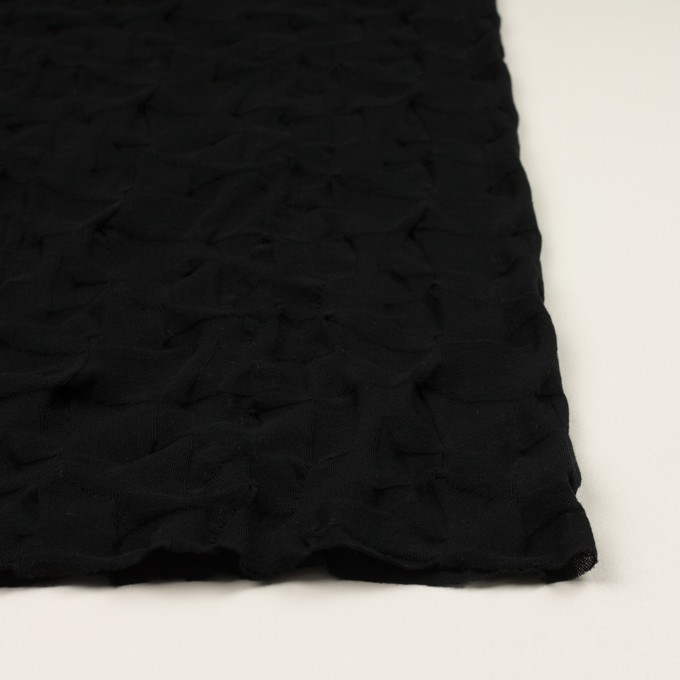 コットン×幾何学模様(ブラック)×ジャガードニット_全3色 イメージ3