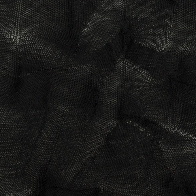 コットン×幾何学模様(ブラック)×ジャガードニット_全3色 イメージ1