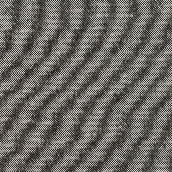 コットン×無地(チャコール)×オックスフォード イメージ1