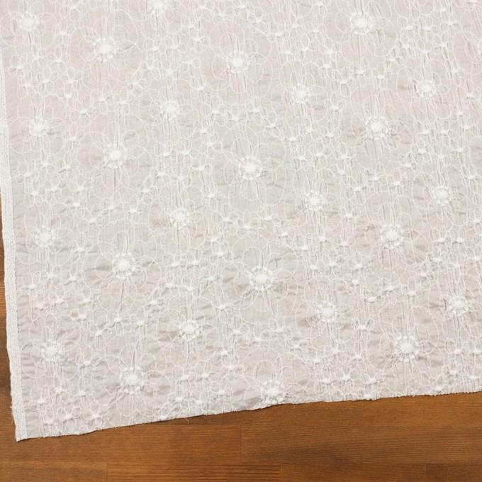 コットン×フラワー(オフホワイト&オフホワイト)×ボイルシャーリング刺繍_全3色 イメージ2