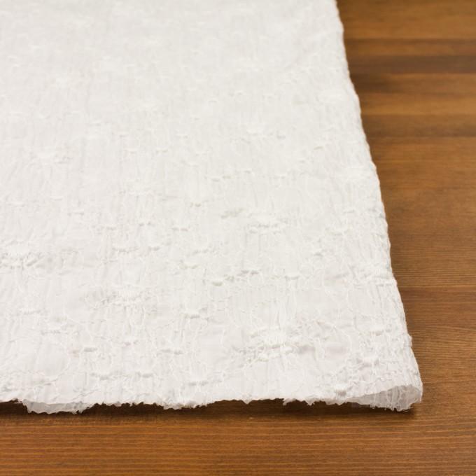 コットン×フラワー(オフホワイト&オフホワイト)×ボイルシャーリング刺繍_全3色 イメージ3