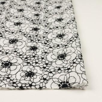 コットン×フラワー(オフホワイト&ブラック)×ボイルシャーリング刺繍_全3色 サムネイル3