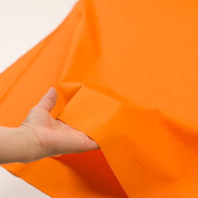 コットン×無地(オレンジ)×ローン イメージ5