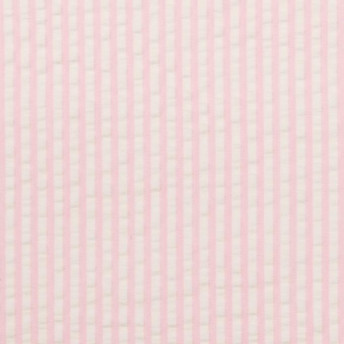 コットン×ストライプ(ピンク)×サッカー_全3色 イメージ1