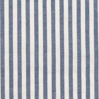 コットン&ポリウレタン×ストライプ(ブルー)×サッカーストレッチ_全3色