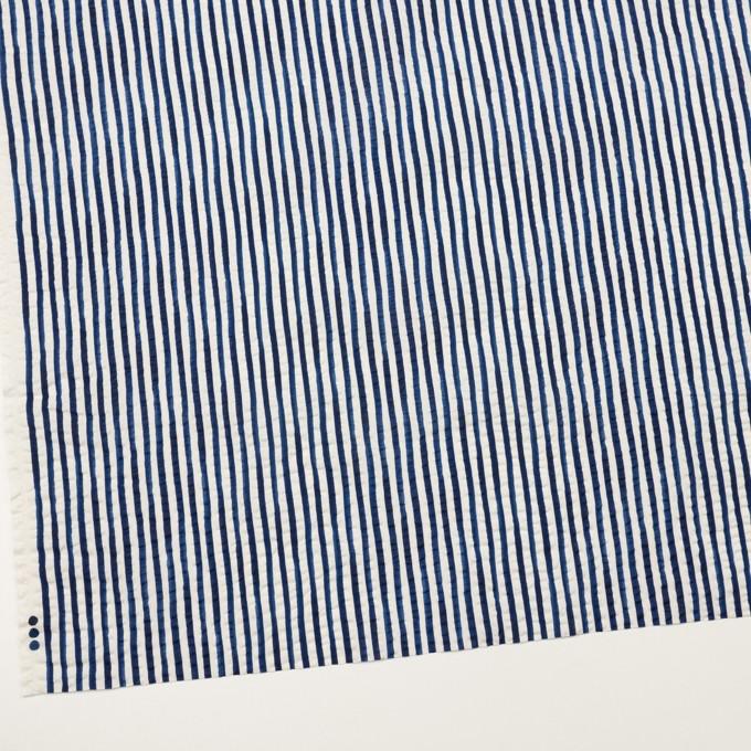 コットン×ストライプ(ブルー)×ローンサッカー_全2色 イメージ2