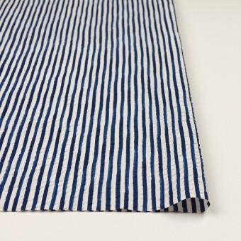 コットン×ストライプ(ブルー)×ローンサッカー_全2色 サムネイル3