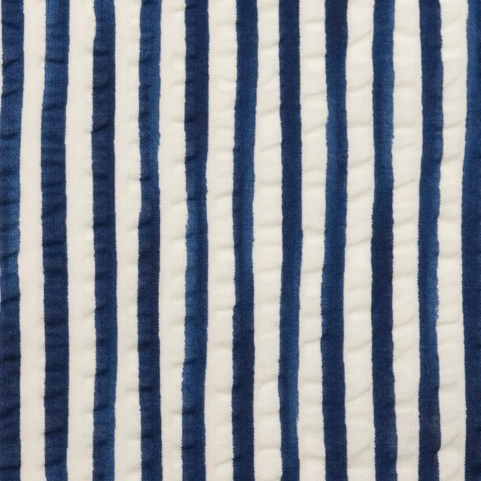 コットン×ストライプ(ブルー)×ローンサッカー_全2色 イメージ1