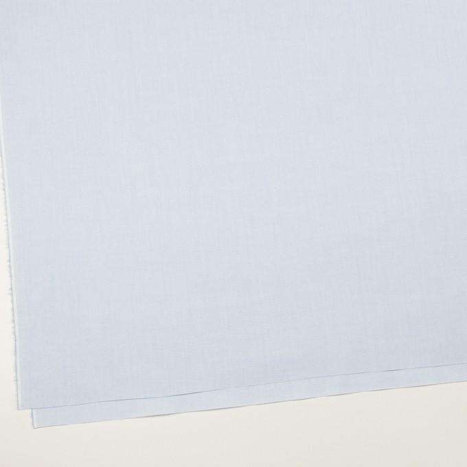 コットン×無地(ペールブルー)×斜子織 イメージ2