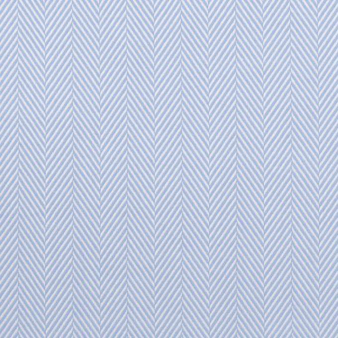 コットン×無地(サックス)×ヘリンボーン イメージ1