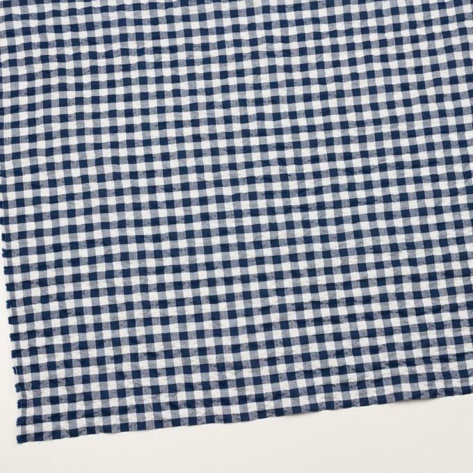 コットン&ポリエステル混×チェック(ネイビー)×ローンシャーリング_全2色 イメージ2