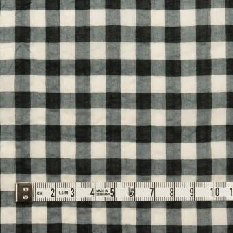 コットン×チェック(エクリュ&ブラック)×ローンワッシャー サムネイル4