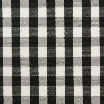 コットン×チェック(ブラック)×ブロード サムネイル1