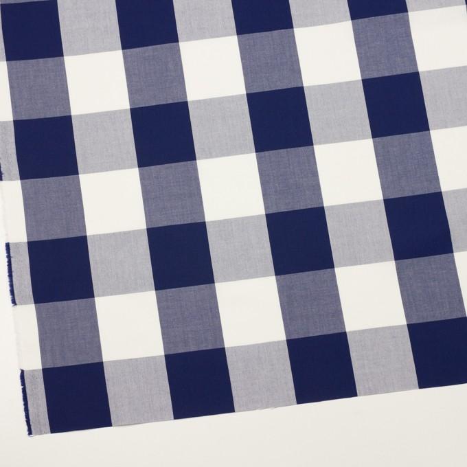 コットン×チェック(プルシアンブルー)×ブロード_全2色 イメージ2