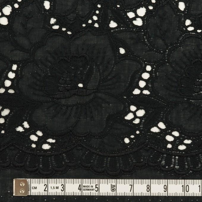 コットン×フラワー(ブラック)×ローン刺繍 イメージ6