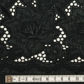 コットン×フラワー(ブラック)×ローン刺繍 サムネイル6