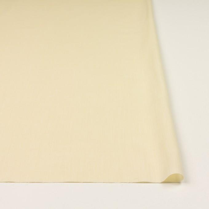 コットン&レーヨン×無地(クリームイエロー)×シャンブレー・ローン イメージ3