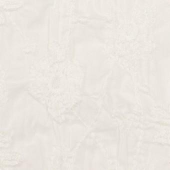 コットン×フラワー(ホワイト)×ボイルシャーリング刺繍_全2色
