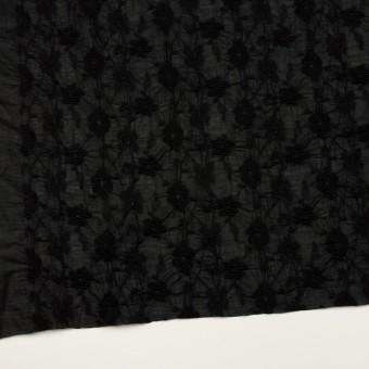 コットン×フラワー(ブラック)×ボイルシャーリング刺繍_全2色 サムネイル2
