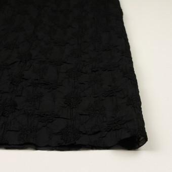 コットン×フラワー(ブラック)×ボイルシャーリング刺繍_全2色 サムネイル3