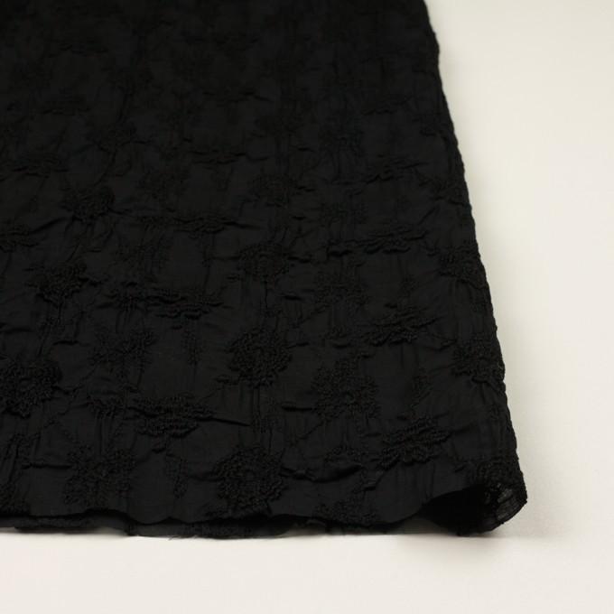 コットン×フラワー(ブラック)×ボイルシャーリング刺繍_全2色 イメージ3