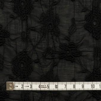 コットン×フラワー(ブラック)×ボイルシャーリング刺繍_全2色 サムネイル4