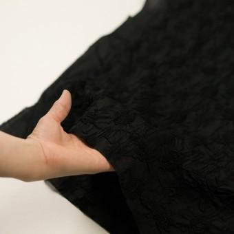 コットン×フラワー(ブラック)×ボイルシャーリング刺繍_全2色 サムネイル5