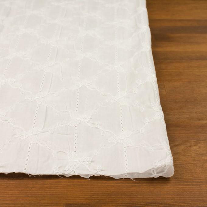 コットン×フラワー(オフホワイト)×ボイルシャーリング刺繍 イメージ3