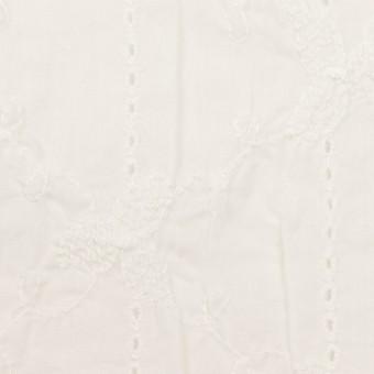 コットン×フラワー(オフホワイト)×ボイルシャーリング刺繍