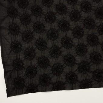 コットン×サークル(ブラック)×ボイルシャーリング刺繍 サムネイル2