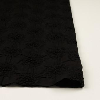 コットン×サークル(ブラック)×ボイルシャーリング刺繍 サムネイル3