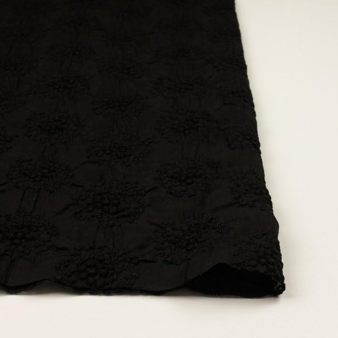 コットン×サークル(ブラック)×ボイルシャーリング刺繍 イメージ3