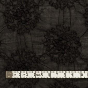 コットン×サークル(ブラック)×ボイルシャーリング刺繍 サムネイル4