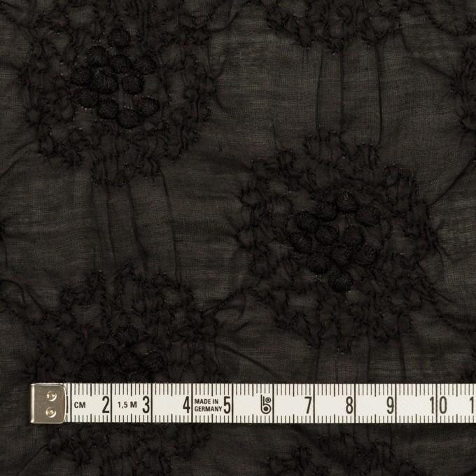 コットン×サークル(ブラック)×ボイルシャーリング刺繍 イメージ4