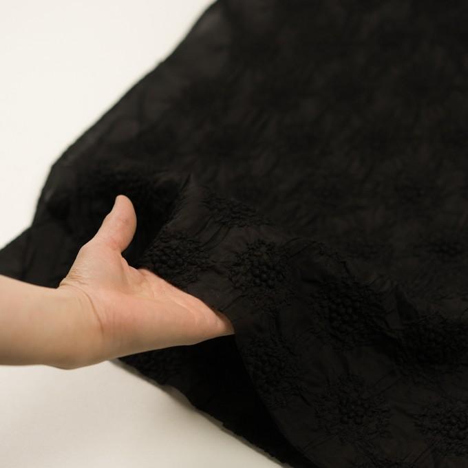 コットン×サークル(ブラック)×ボイルシャーリング刺繍 イメージ5