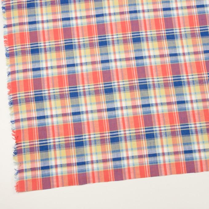 コットン×チェック(スカーレット、シトロン&ブルー)×薄シーチング イメージ2